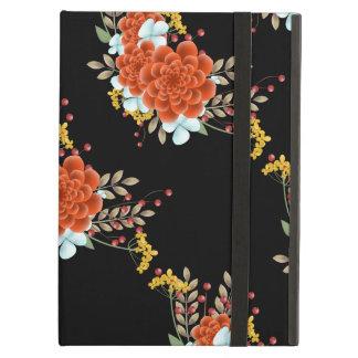 De geïllustreerde Bloemen & Bladeren van de iPad Air Hoesje