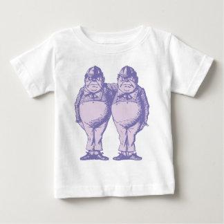 De Geïnkte Lavendel Dee en Tweedle van Tweedle Dum Baby T Shirts