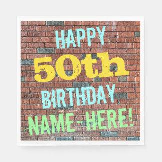 De Geïnspireerde 50ste Verjaardag van de Bakstenen Papieren Servet