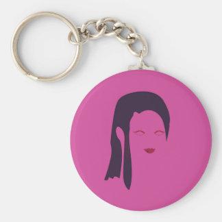 De geisha Etnisch roze van het ontwerp Sleutelhanger