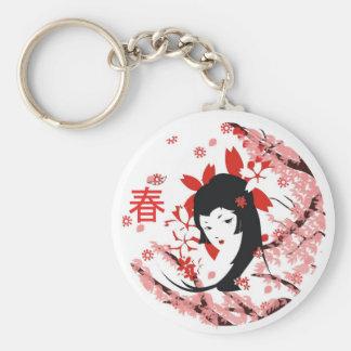 De Geisha van de lente keychain Sleutelhanger
