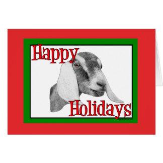 De Geit van Nubian Vakantie Kerstmis Kaart