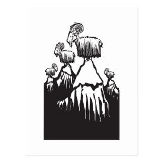 De Geiten van de berg Briefkaart