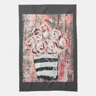 De gekietelde Roze Handdoek van de Keuken