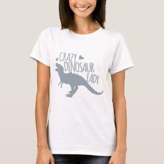 De gekke Dame van de Dinosaurus T Shirt