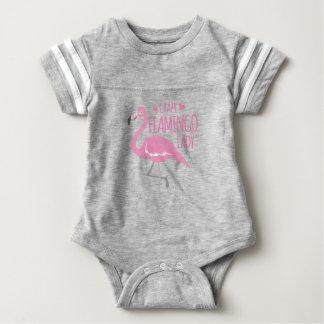 De gekke dame van de Flamingo Baby Bodysuit