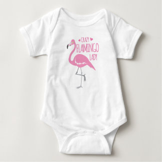 De gekke dame van de Flamingo Romper