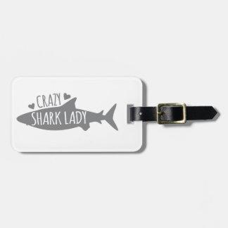 De gekke Dame van de Haai Kofferlabel