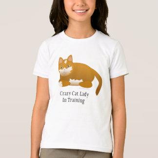 De gekke Dame van de Kat in de Opleiding van de T Shirt