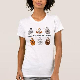 De gekke Dame van de Kat in het Overhemd van de T Shirt