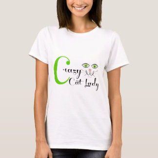 De gekke Dame van de Kat! T Shirt