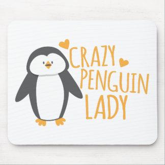 De gekke Dame van de Pinguïn Muismatten