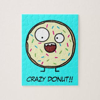De gekke Doughnut bestrooit vanille die zoet Legpuzzel