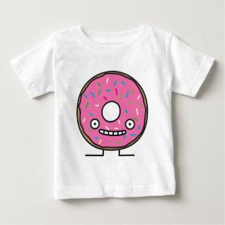 De gekke Doughnut met bestrooit roze suikerglazuur Baby T Shirts