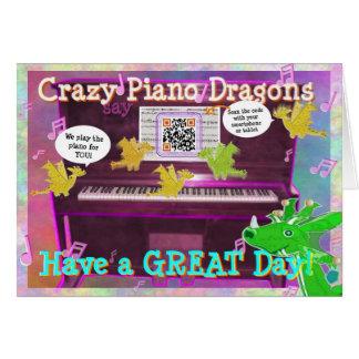 De gekke Draken van de Piano zeggen een Grote Dag Kaart