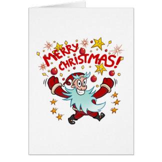 """De gekke Kaart van de Kerstman van """"Vrolijke"""