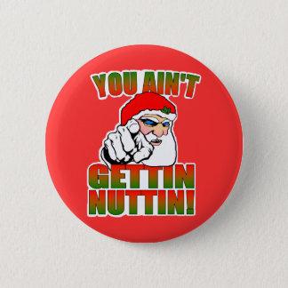 De gekke Knoop van de Kerstman Ronde Button 5,7 Cm