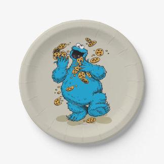 De Gekke Koekjes van het Monster van het koekje Papieren Bordje