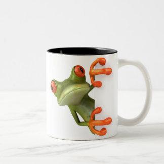 De gekke Mok van de Koffie van de Kikker van de Bo