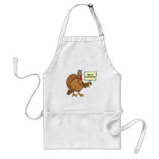 De gekke Thanksgiving gekscheert wat een het Standaard Schort