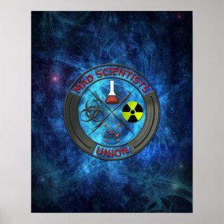 De gekke Unie van de Wetenschapper Poster
