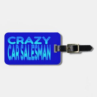 De gekke Verkoper van de Auto Bagagelabel