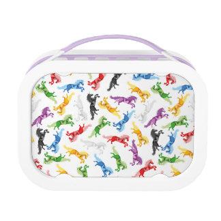 De gekleurde Eenhoorn van het Patroon Lunchbox