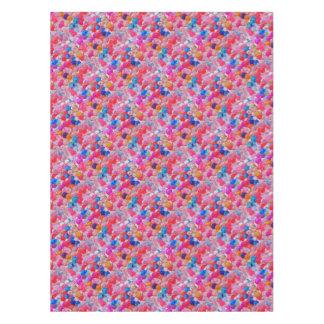 de gekleurde textuur van geleiballen tafelkleed