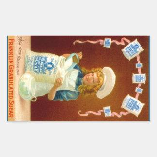 De Gekorrelde Suiker van de Advertentie van de Rechthoekige Sticker
