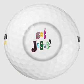 De gekregen Zwarte Ovale Samenvatting van Jesus Golfballen