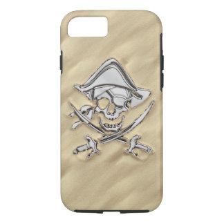 De Gekruiste knekels van de Piraat van het chroom iPhone 7 Hoesje