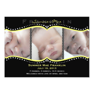 De gele Aankondiging van de Geboorte van de Foto
