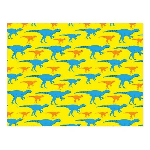 De gele Blauwe Oranje Dinosaurus ontwerpt de Gifte Wens Kaart