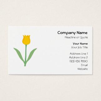 De gele Bloem van de Tulp Visitekaartjes