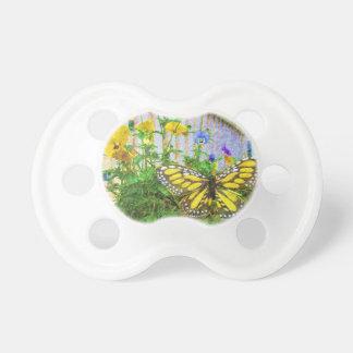De gele Bloemen van de Vlinder en van de Altviool Fopspeen
