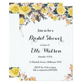 De gele BloemenUitnodiging van het 12,7x17,8 Uitnodiging Kaart