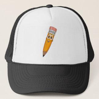 De gele Cartoon van het Potlood Trucker Pet