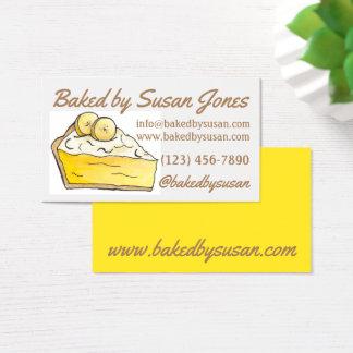 De gele die Bakkerij van de Pastei van de Room van Visitekaartjes