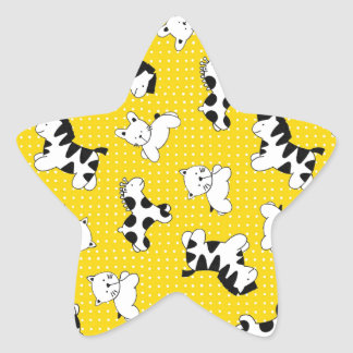 De gele Dieren van het Baby van de Stip Stervormige Sticker