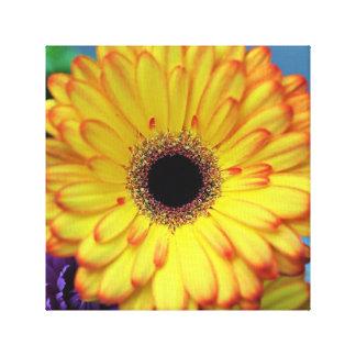 De gele Druk van het Canvas van de Bloem