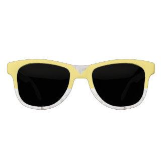 De Gele en Witte Marmeren Zonnebril van de