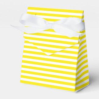 De gele en Witte Partij van het Huwelijk van Bedankdoosjes