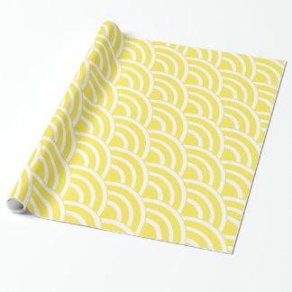 De Gele en Witte Ventilators van de kanarie Inpakpapier
