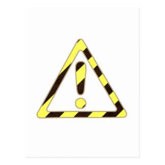 De gele en Zwarte Uitroep van de Driehoek van het Briefkaart