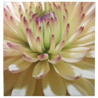 De gele Foto van de Bloemen van Mums van de Bloem  Servet