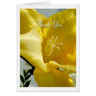 De gele Fresia dankt u kaardt Briefkaarten 0