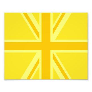 De gele Gele Achtergrond van de Vlag van Union Jac Fotoprints
