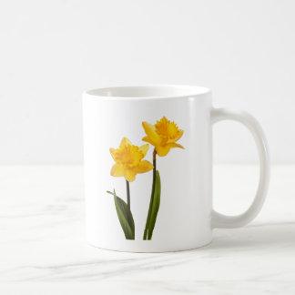 De gele Gele narcissen van de Lente op Wit Koffiemok