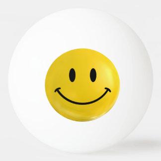 De gele Gelukkige Bal van de Pingpong Smiley Pingpongbal
