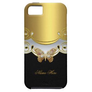 De Gele Gouden Zwarte van de vlinder Tough iPhone 5 Hoesje
